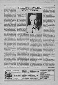 lithuanian essay on william burroughs' cut-up technique