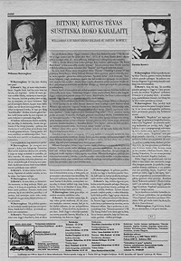 lithuanian translation of william burroughs' interview with david bowie, 1971