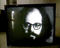 Warhol screen test of Ginsberg