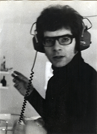 Carl Weissner during the recording of UFO 3