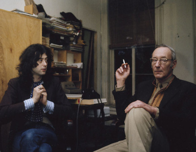 Charles Gatewood, Jimmy Page with William Burroughs, 1975