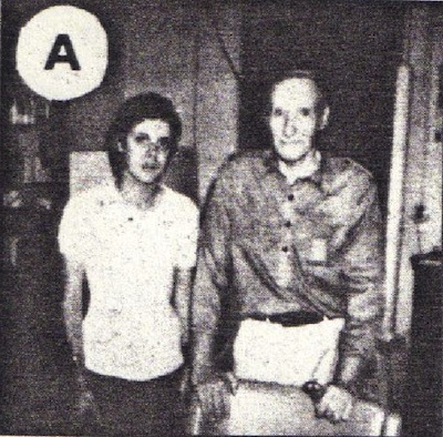 Genesis P Orridge and William S. Burroughs, circa 1981 (xerox from NME)