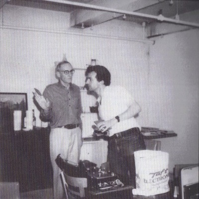 William S. Burroughs and Sleazy Christopherson, New York, The Bunker, circa 1977