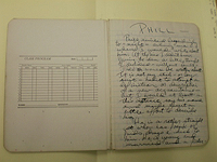 Notebook,  Huncke Papers, Columbia University, Butler Library RBML Collection