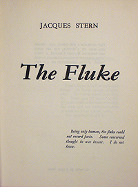 Jacques Stern, The Fluke, Privately Published in Paris, 1965