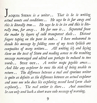 William Burroughs' introduction to Jacques Stern's The Fluke