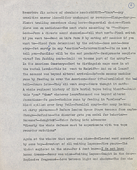 William Burroughs' introduction to Jacques Stern's The Fluke, previously unpublished manuscript draft, page 1