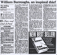 Jan Herman, Review of William Burroughs' Adding Machine, Chicago Sunday Times, 1986