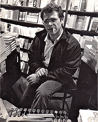 Jan Herman at City Lights Bookstore, circa 1967