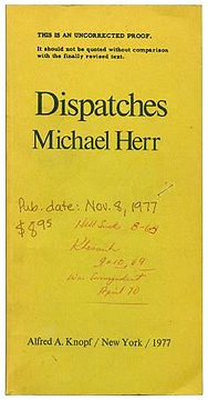 Michael Herr, Dispatches, Proof copy showing inclusion of Hell Sucks
