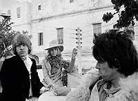 Keith Richards, Anita Pallenberg, and Brian Jones in Morocco