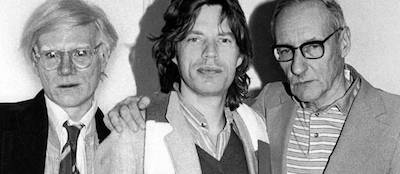 Andy Warhol, Mick Jagger, and William Burroughs
