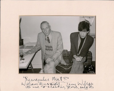 William S. Burroughs and Terry Wilson, 1980s