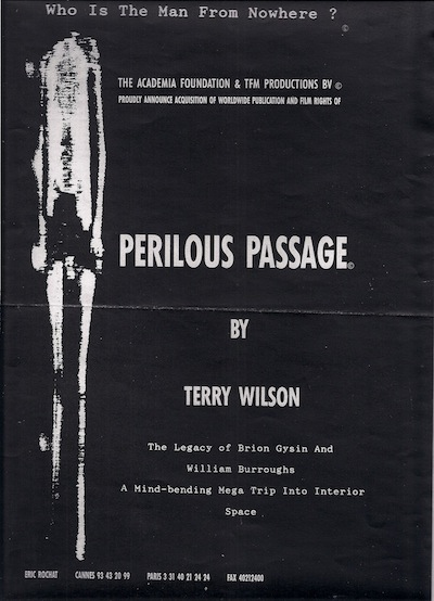 Perilous Passage film poster (design by Philippe Baumont)