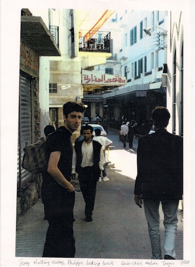 Philippe Baumont and Terry Wilson, Tangier 1990 (photo by Oliver Harris)