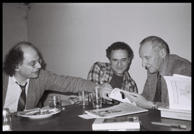 Allen Ginsberg, John Giorno, and William Burroughs. Photograph by Victor Bockris